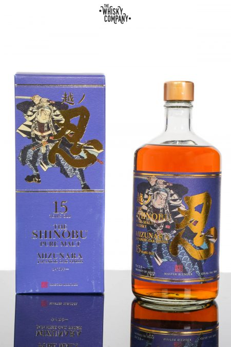 The Shinobu 15 Years Old Pure Malt Japanese Whisky - Mizunara Oak Finish (700ml)