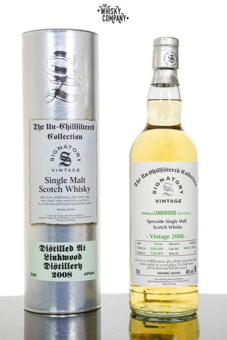 Linkwood 2008 Aged 10 Years UCF Speyside Single Malt Scotch Whisky - Signatory Vintage (700ml)