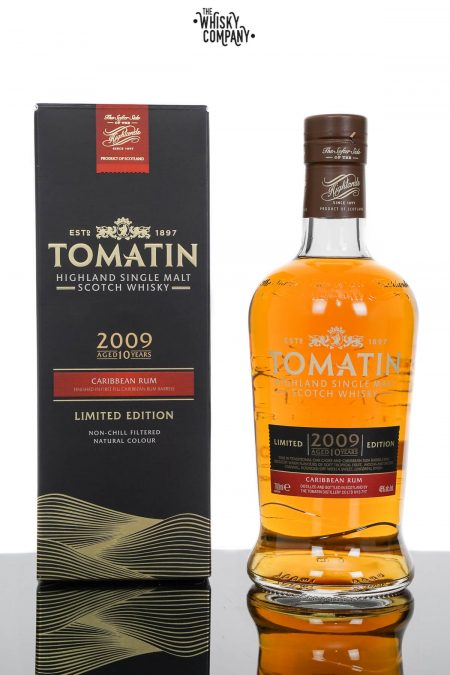 Tomatin 10 Years Old 2009 Caribbean Rum Cask Finish Single Malt Scotch Whisky (700ml)
