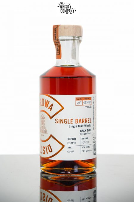Corowa Single Barrel Peated French Oak Port Cask Matured Single Malt Whisky - Cask 247 (500ml)
