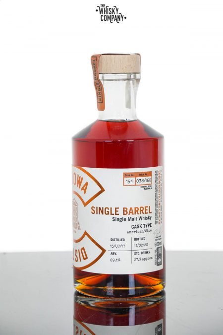 Corowa Single Barrel American Oak Wine Cask Matured Single Malt Whisky - Cask 194 (500ml)