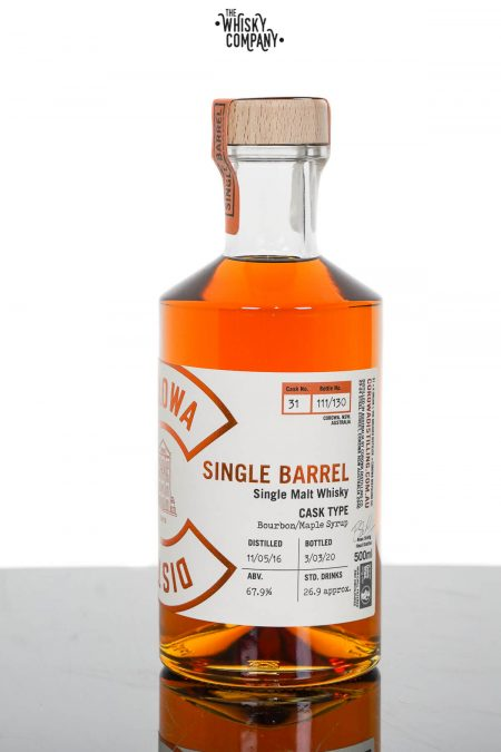 Corowa Single Barrel Bourbon Maple Syrup Cask Matured Single Malt Whisky - Cask 31 (500ml)