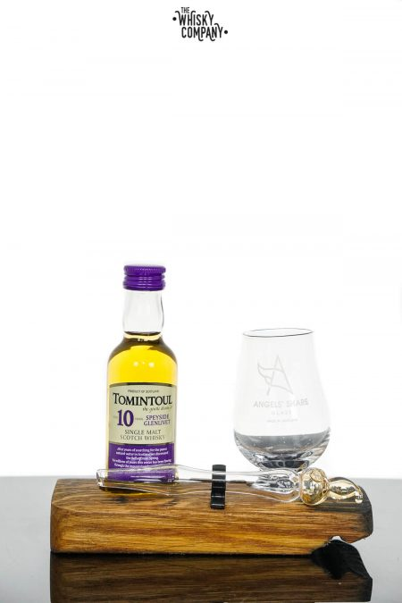 Angels' Share Glassware Whisky Miniature Set with Tomintoul 10 Years Old Miniature