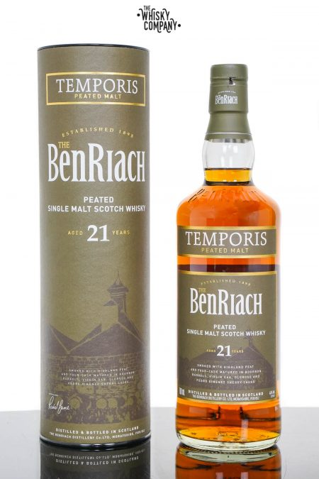 BenRiach Temporis Aged 21 Years Peated Speyside Single Malt Scotch Whisky (700ml)