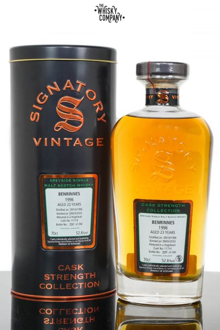 Benrinnes 1996 Aged 23 Years Cask Strength Single Malt Scotch Whisky - Signatory Vintage (700ml)