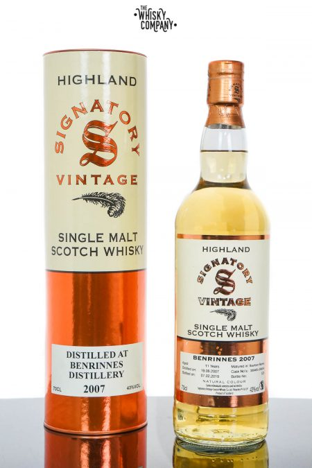 Benrinnes 2007 Aged 11 Years Highland Single Malt Scotch Whisky - Signatory Vintage (700ml)