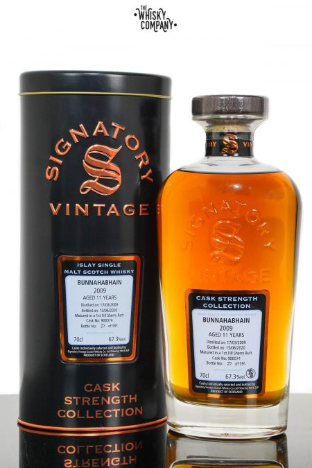 Bunnahabhain 2009 Aged 11 Years Cask Strength Single Malt Scotch Whisky - Signatory Vintage (700ml)
