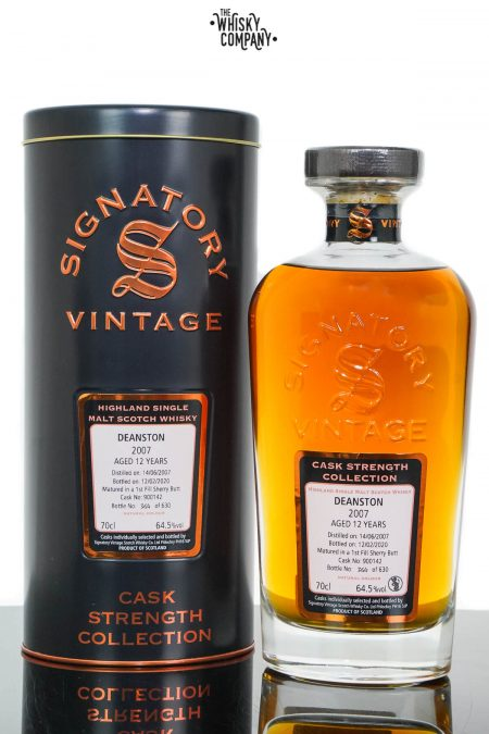 Deanston 2007 Aged 12 Years Cask Strength Single Malt Scotch Whisky - Signatory Vintage (700ml)