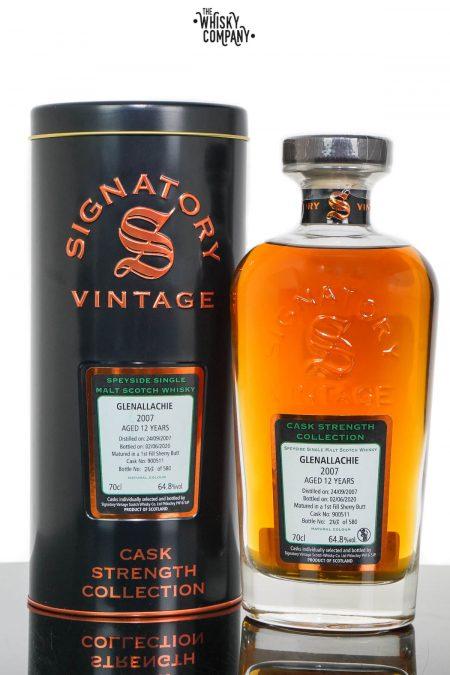 Glenallachie 2007 Aged 12 Years Cask Strength Single Malt Scotch Whisky - Signatory Vintage (700ml)