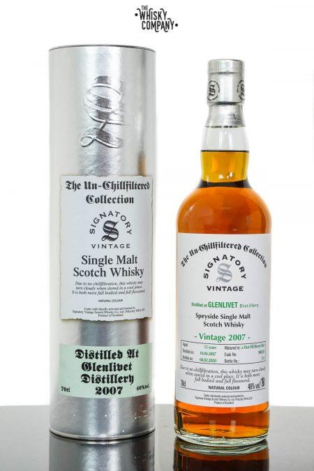 Glenlivet 2007 Aged 12 Years Speyside Single Malt Scotch Whisky - Signatory Vintage (700ml)