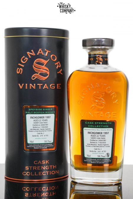Inchgower 1997 Aged 22 Years Cask Strength Single Malt Scotch Whisky - Signatory Vintage(700ml)
