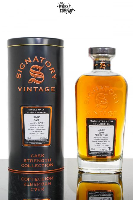 Ledaig 2007 Aged 12 Years Cask Strength Single Malt Scotch Whisky - Signatory Vintage (700ml)