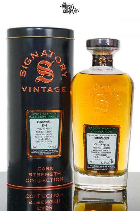 Longmorn 2002 Aged 17 Years Cask Strength Single Malt Scotch Whisky - Signatory Vintage (700ml)