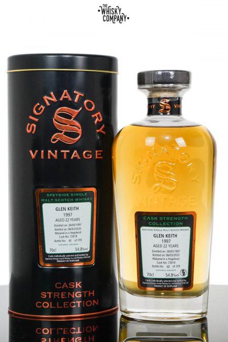 Glen Keith 1997 Aged 22 Years Cask Strength Speyside Single Malt Scotch Whisky - Signatory Vintage (700ml)