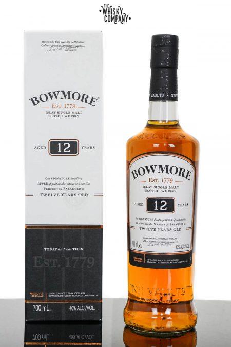 Bowmore Aged 12 Years Islay Single Malt Scotch Whisky (700ml)