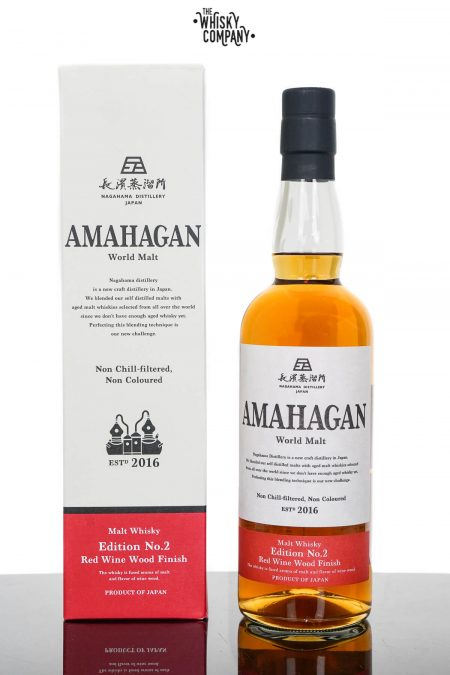 Amahagan World Malt Edition No.2 Red Wine Wood Finish Japanese Malt Whisky (700ml)