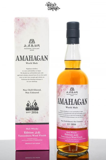 Amahagan World Malt Edition No.4 Yamazakura Wood Finish Japanese Malt Whisky (700ml)