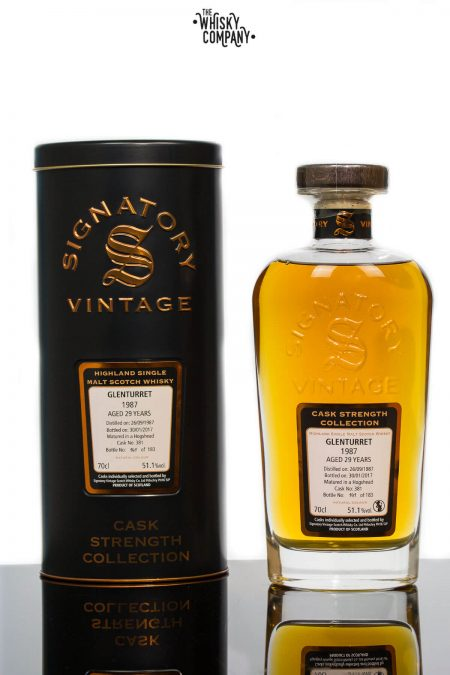 Glenturret 1987 Aged 29 Years Old (cask 381) Single Malt Scotch Whisky - Signatory Vintage (700ml)