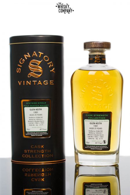 Glen Keith 1991 Aged 25 Years Single Malt Scotch Whisky - Signatory Vintage (700ml)