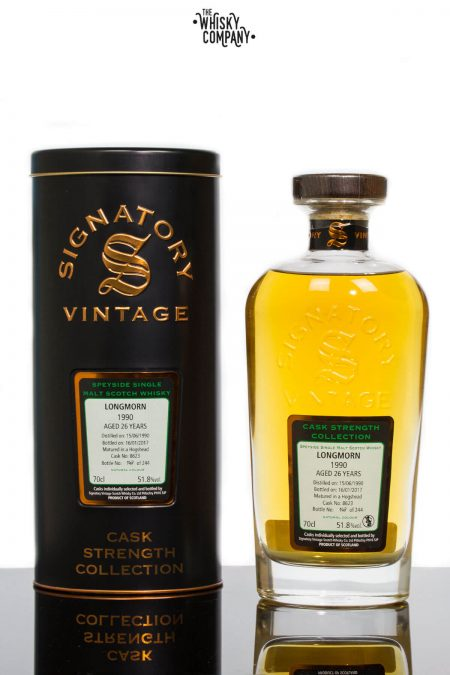 Longmorn 1990 Aged 26 Years Single Malt Scotch Whisky - Signatory Vintage (700ml)
