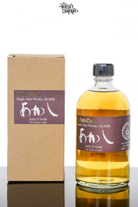Akashi White Oak 3 Years Old Japanese Single Malt Whisky - IMO Sherry Cask Matured (500ml)