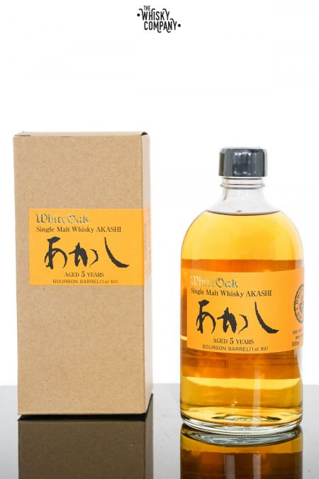 Akashi White Oak 5 Years Old Japanese Single Malt Whisky - First Fill Bourbon Matured (500ml)