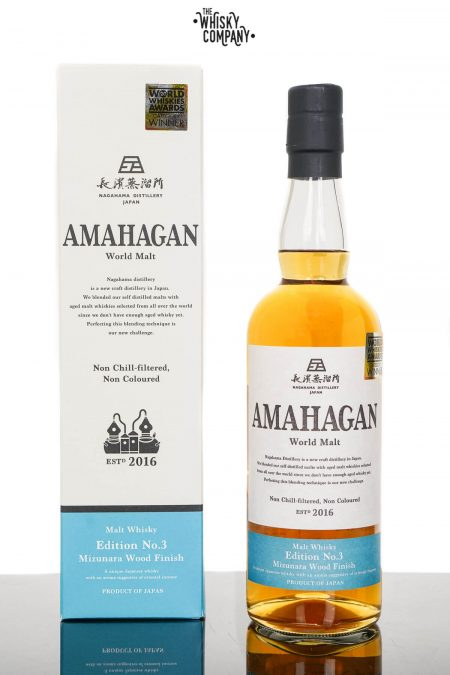 Amahagan World Malt Edition No.3 Mizunara Wood Finish Japanese Malt Whisky (700ml)