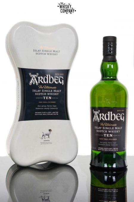 Ardbeg Ten Islay Single Malt Scotch Whisky Shortie Gift Tin (700ml)