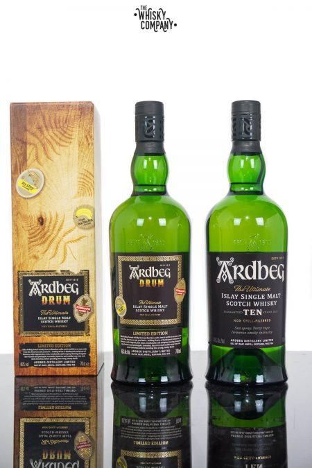 Ardbeg Drum Islay Single Malt Scotch Whisky PLUS Ardbeg 10 Years Old (2 x 700ml)