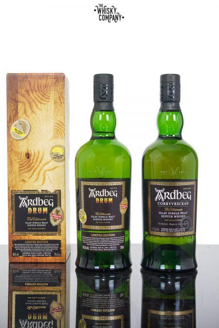 Ardbeg Drum Islay Single Malt Scotch Whisky PLUS Ardbeg Corryvreckan (2 x 700ml)