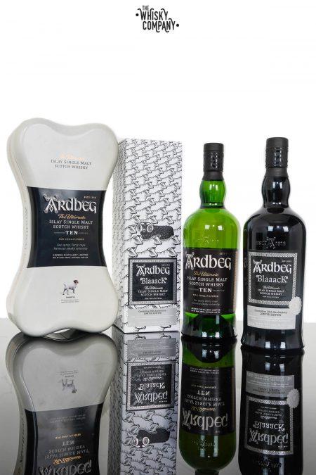Ardbeg Blaaack & Ardbeg Ten Islay Single Malt Scotch Whisky Combo (2 x 700ml)