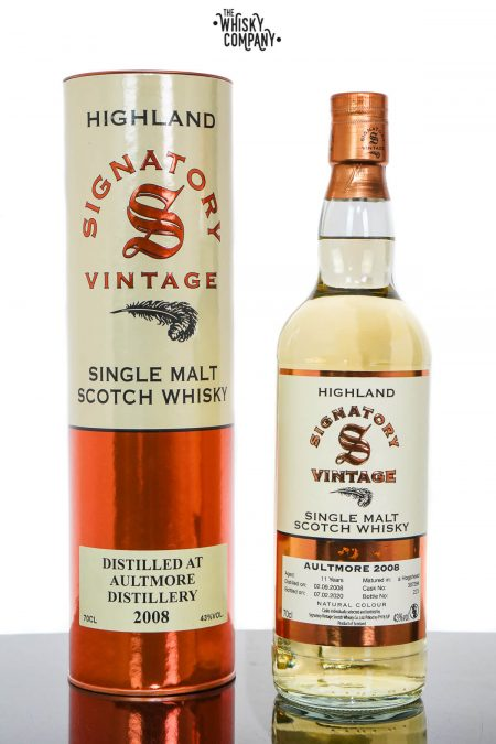 Aultmore 2008 Aged 11 Years Highland Single Malt Scotch Whisky - Signatory Vintage (700ml)