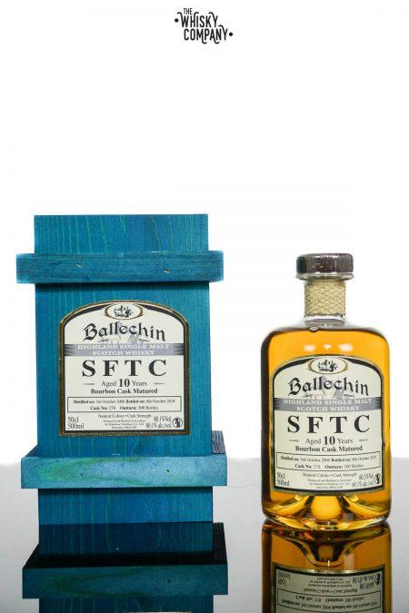 Ballechin 2008 SFTC Aged 10 Years Bourbon Cask Matured Single Malt Scotch Whisky (500ml)