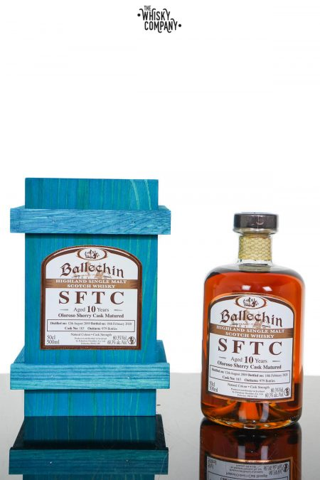 Ballechin 2009 SFTC Aged 10 Years Oloroso Sherry Cask Matured Single Malt Scotch Whisky - Cask 183 (500ml)