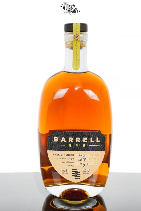 Barrel Craft Spirits 4 Years Old Cask Strength Rye - Batch 003 (750ml)