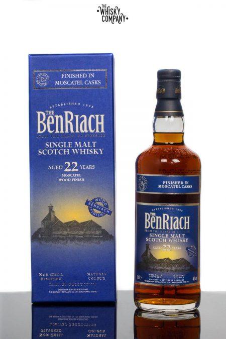 BenRiach Aged 22 Years Moscatel Wood Finish Single Malt Scotch Whisky (700ml)