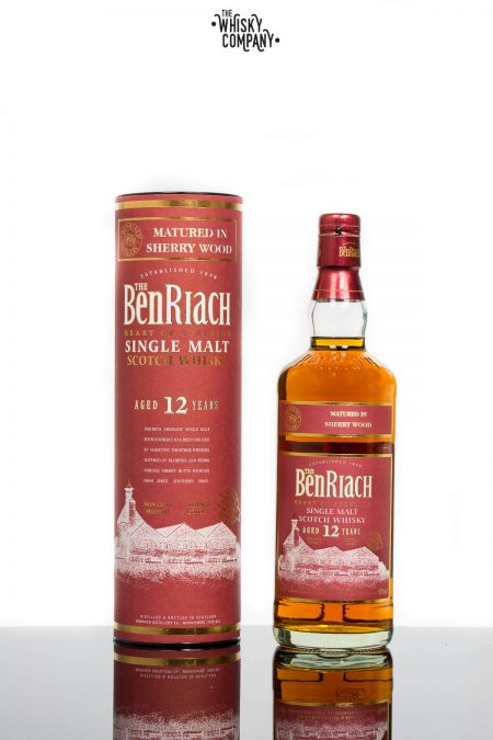 BenRiach Aged 12 Years Sherry Matured Speyside Single Malt Scotch Whisky (700ml)