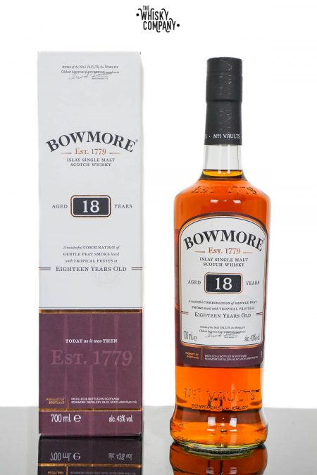 Bowmore Aged 18 Years Islay Single Malt Scotch Whisky (700ml)