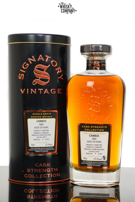 Cambus 1991 Aged 29 Years Single Grain Scotch Whisky - Signatory Vintage (700ml)