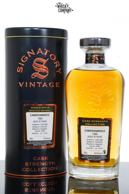Cameronbridge 1984 Aged 35 Years Single Grain Scotch Whisky – Signatory Vintage (700ml)