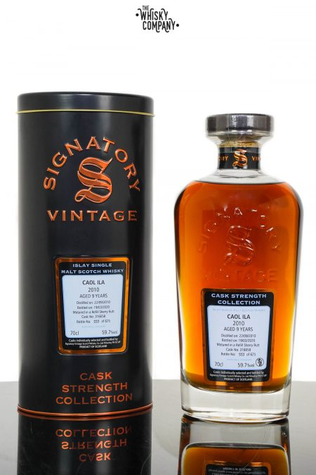 Caol Ila 2010 Aged 9 Years Cask Strength Single Malt Whisky - Signatory Vintage (700ml)