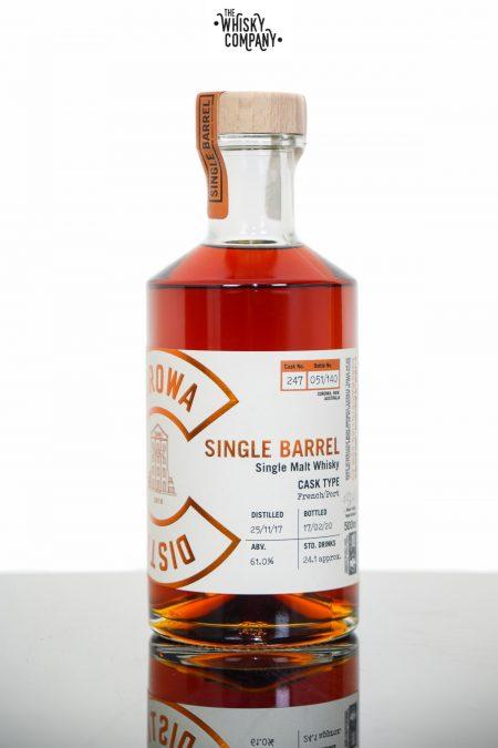 Corowa Single Barrel Peated French Oak Port Cask Matured Single Malt Whisky - Cask 247 (500ml)