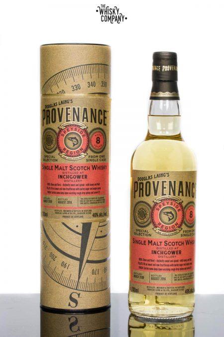 Douglas Laing Provenance Inchgower Aged 8 Years Speyside Single Cask Single Malt Scotch Whisky
