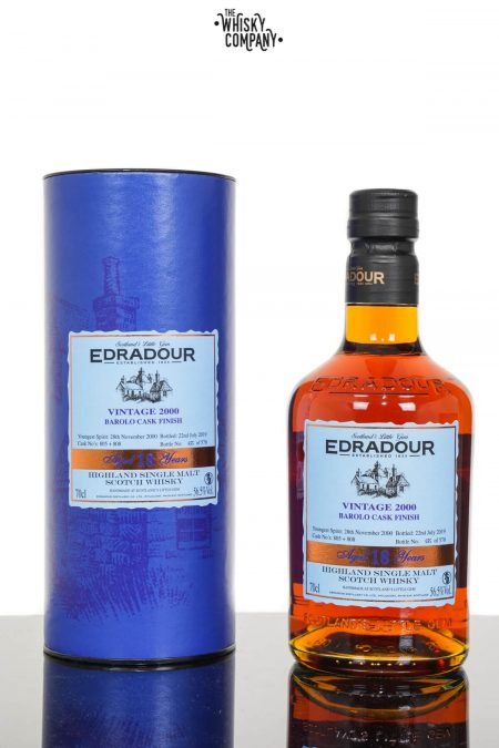 Edradour 2000 Aged 18 Years Highland Single Malt Scotch Whisky - Barolo Cask Finish (700ml)