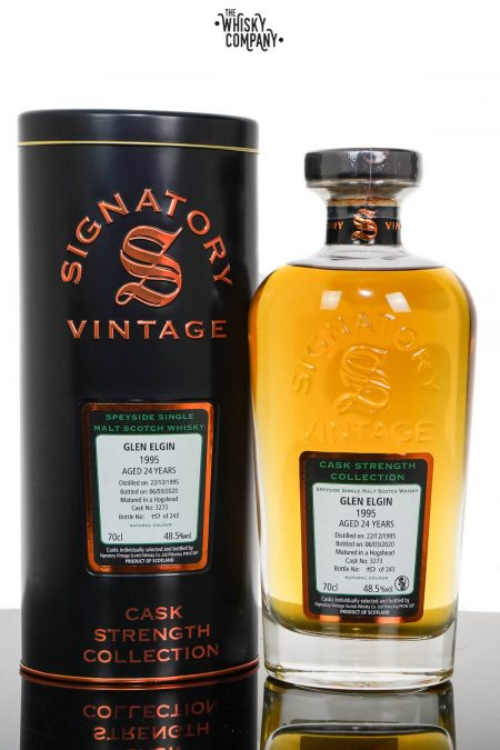 Glen Elgin 1995 Aged 24 Years Cask Strength Speyside Single Malt Scotch Whisky – Signatory Vintage (700ml)