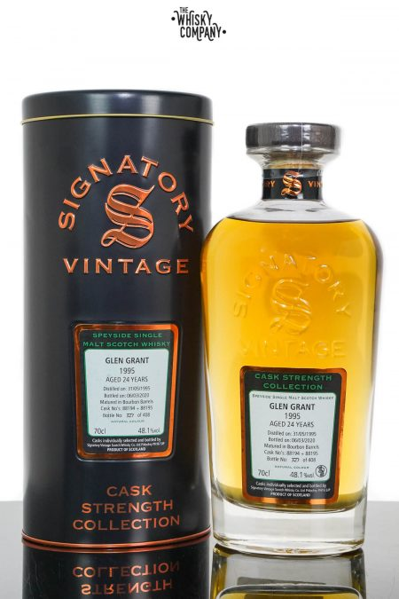 Glen Grant 1995 Aged 24 Years Cask Strength Single Malt Scotch Whisky - Signatory Vintage (700ml)