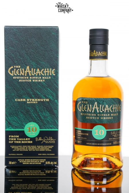 GlenAllachie 10 Years Old Cask Strength Single Malt Scotch Whisky - Batch 2 (700ml)