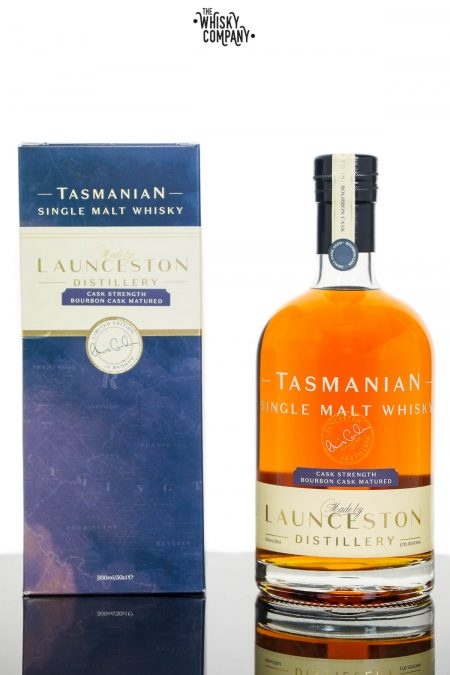 Launceston Bourbon Cask Cask Strength Tasmanian Single Malt Whisky (500ml)