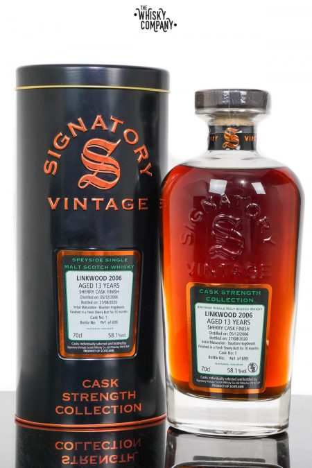 Linkwood 2006 Aged 13 Years Cask Strength Single Malt Scotch Whisky - Signatory Vintage (700ml)