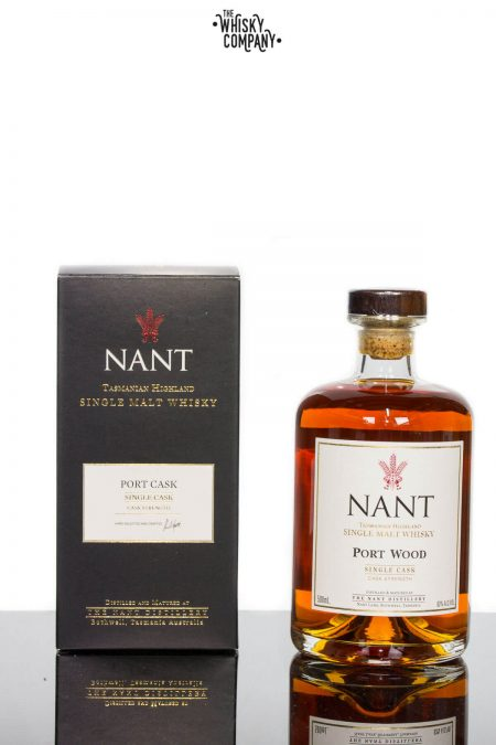 Nant French Oak Port Wood Single Cask Cask Strength Tasmanian Single Malt Whisky (500ml)